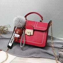 Простая женская сумка через плечо, модная женская сумка, лидер продаж, мультяшный кулон, кошелек, сумки-мессенджеры для мобильного телефона, высокое качество