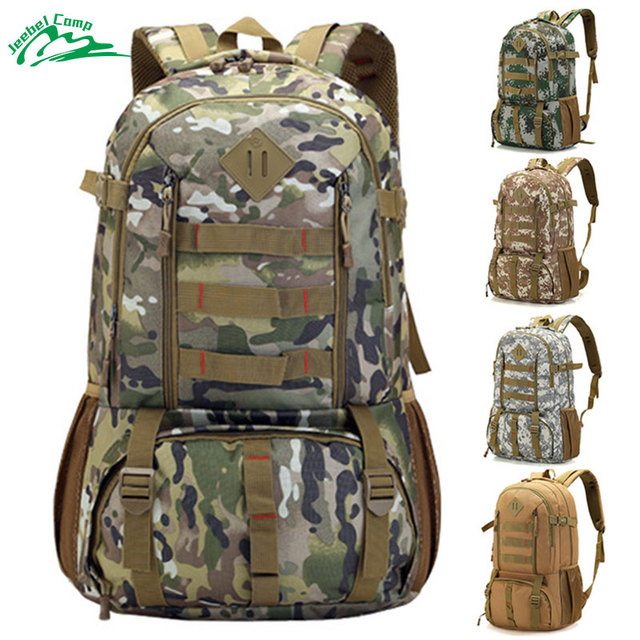 dcad2f245274 Jeebel 50L Camo Tactical Backpack Military Army Mochila Waterproof Hiking  Hunting Backpack Tourist Rucksack Sports Bag-in Climbing Bags from Sports  ...