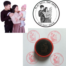5CM Self Inking Photosensitive Souvenir DIY Photo Stamp Custom Stamps Personalized Special for Happy Familly