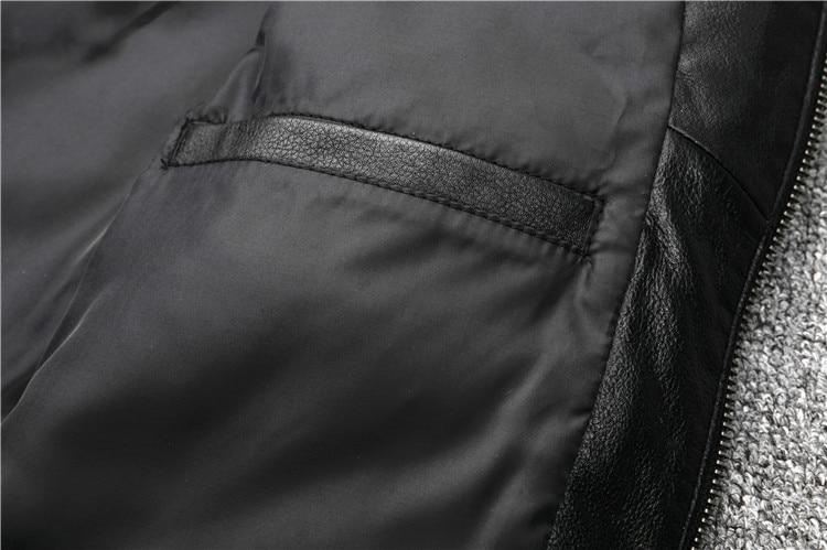 HTB1CBl4aeL2gK0jSZFmq6A7iXXaQ Free shipping.fashion style warm mens leather coat,biker cowhide Jacket,black genuine Leather coat.plus size homme slim,cool