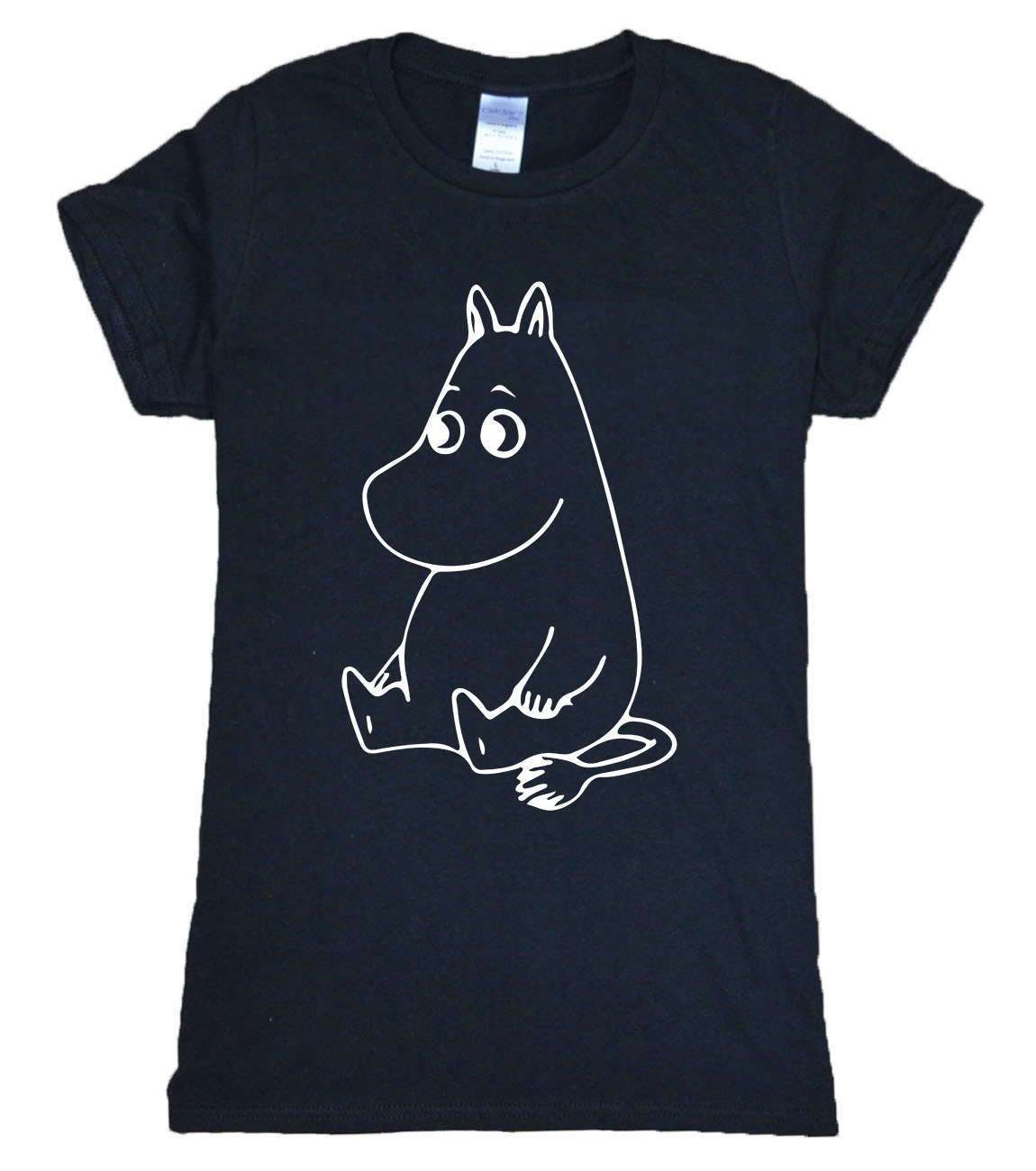 2016 summer moomin cartoon print t shirt women brand tops harajuku tee shirt funny top pp grunge. Black Bedroom Furniture Sets. Home Design Ideas