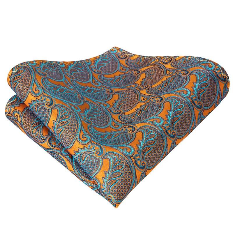 LH-2019 Hi-Dasi Mewah Paisley Sutra Tenun Kupu-kupu Pria Kupu-kupu Self Bow Tie Emas Abu-abu Dasi Kupu-kupu Saputangan Manset Perapi Pernikahan set