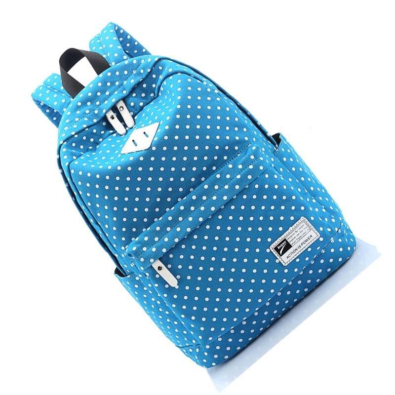 Для девочек Для женщин холст школьная сумка Дорожная Рюкзак сумка рюкзак Лот № 7 синий
