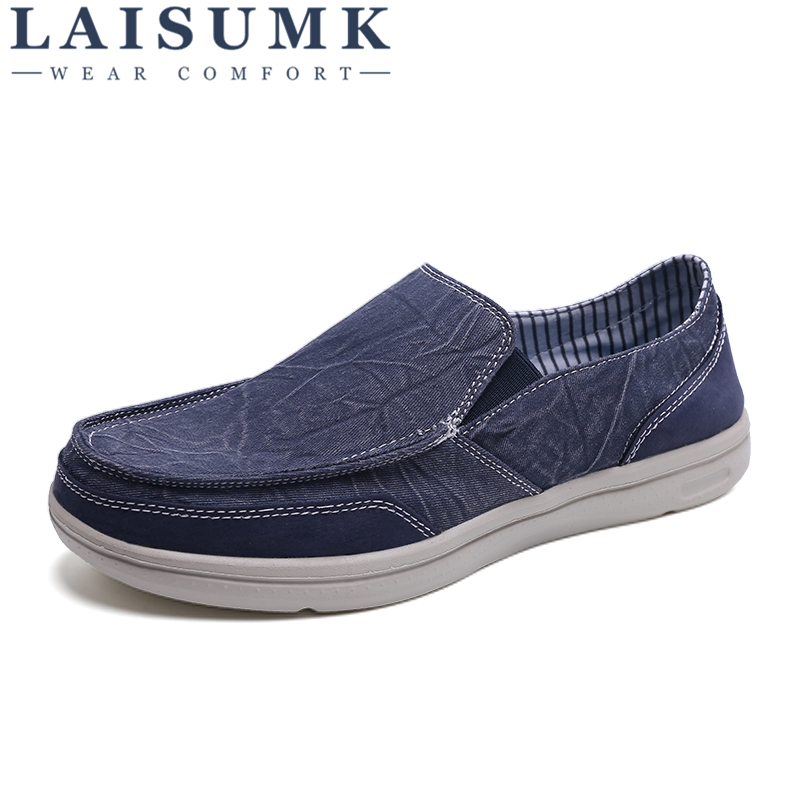 Men's Casual Shoes Laisumk Canvas Mens Shoes Lazy Set Of Feet Men Casual Shoes New 2018 Breathable Male Wear Resistant Flats Footwear Spring Autumn Structural Disabilities