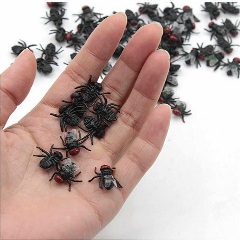 Halloween truque diversão novidade engraçado gadgets blague brinquedo simulação falso pragas moscas figuras de ação brinquedos mini crianças presentes