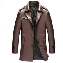 2018 Mens Brown Jackets Long Coats High Quality Winter Dress Business Lapel
