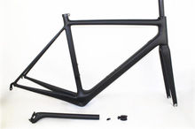 810g Carbon Glossy Cycling Road Bike Frame 51/54/56cm Bicycle Fork + Seatpost + Clamp