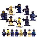 KR 8 pcs golpe militar do exército de counter-strike brinquedos brinquedos educativos blocos de construção de tijolos compatível com