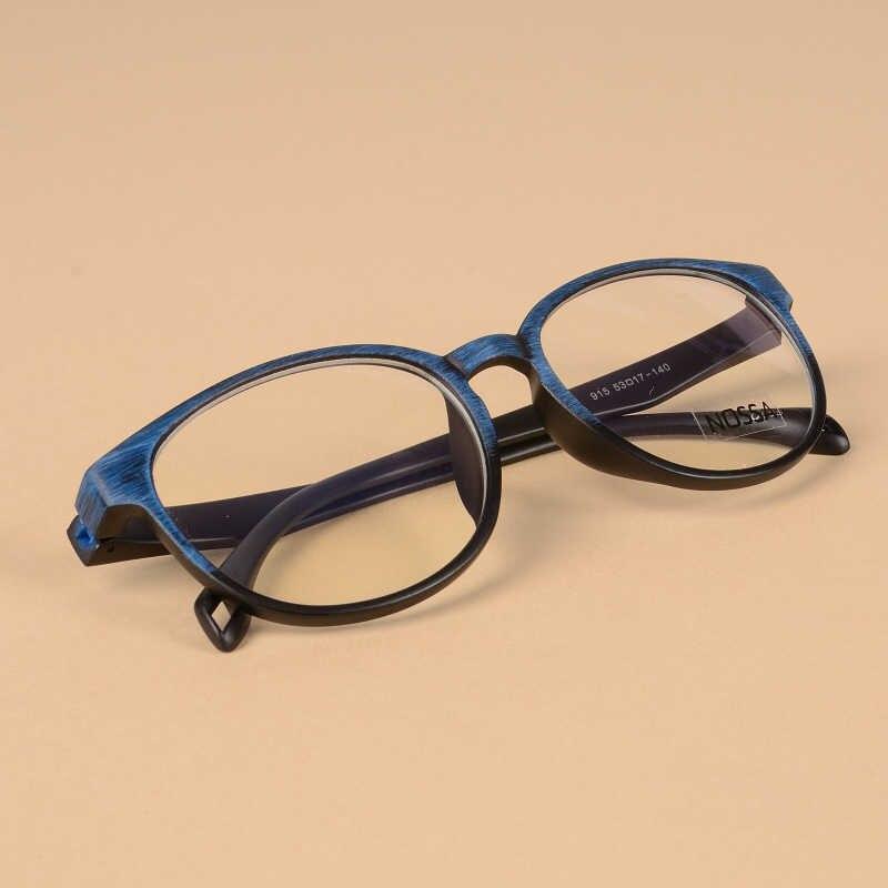 Bulat Frame Kacamata Unisex Berwarna Merah Muda Biru Kopi Hitam Vintage Kacamata Wanita Bingkai Besar Optik Pria Kualitas Retro Spectacles