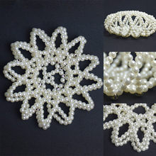 Crystal Ballet Dancing 1PC Handmade Imitation Pearl? Adjustable:Elastic Snood Net Hair Nets Crochet(China)