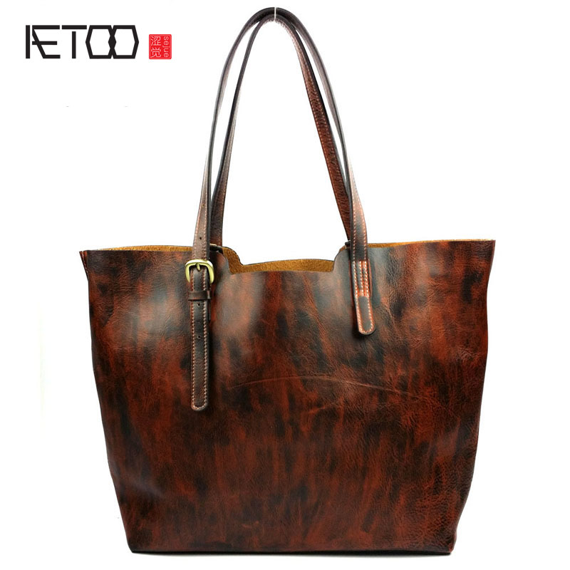 AETOO Shoulder bag handbags Guangzhou fashion leather handbags wholesale leather leather European and American women shoulder ba