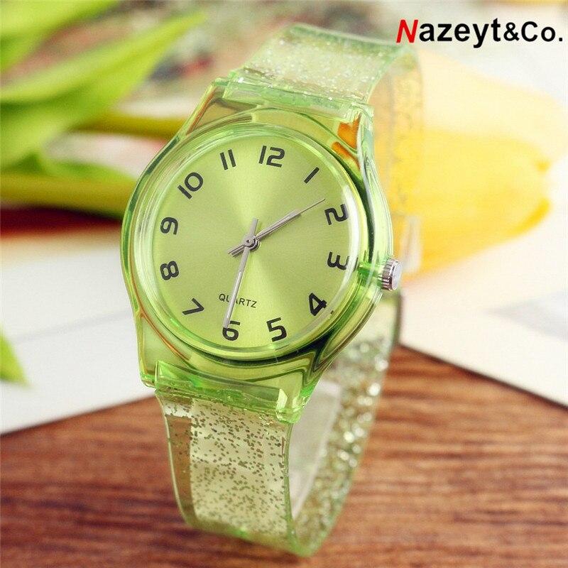 Freeshipping 2019 New Fashion Boys Girls Children Cute Shiny Starry Sky Dial Analog Watch 30mm Waterproof Woman Gift Clock