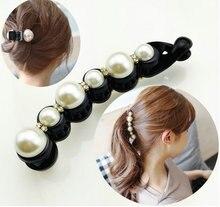 Gold Black Big Rhinestone Hairpins For Women Pearl Hair Clips Crab Hair Claws For Girls Barrettes Headwear Hair Pins Accessories цены