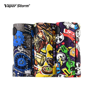 Image 4 - Electronic Cigarette Box Mod Vape Vapor Storm ECO Max 90W Graffiti Color Bypass Mode 510 Thread Without Battery Support RDA RDTA