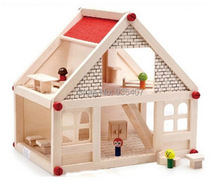 Childrens toy building cottages cabins house DIY Blocks