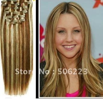 Online shop 24 inch full head clip in hair extensions 6613mixed 24 inch full head clip in hair extensions 6613mixed blonde 70gpcs 10packlot order pmusecretfo Image collections