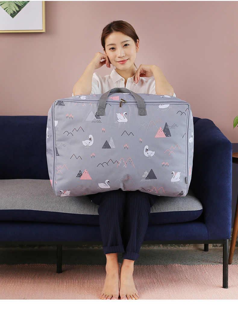 Горячие мягкие Серый Путешествия Чемодан шкаф Организатор контейнер под хранение для спальни сумка для Стёганое Одеяло Одежда большого размера аккуратная сумка переезжать