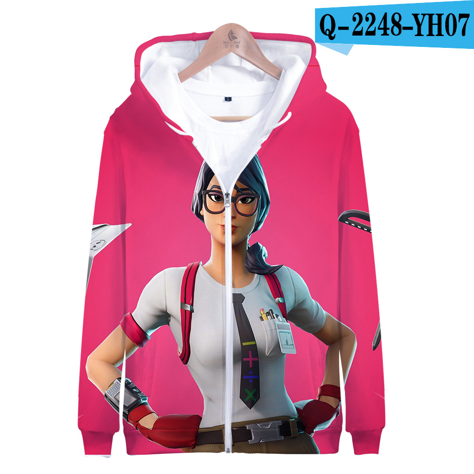 Fortnited Battle Royale Hoodie Print Moletons Fortnight Zipper Popular Fortnited Women Clothes Game Clothes Popular Clothing Price $21.98