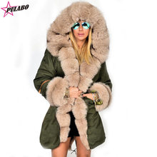 Plus Size Women Winter Jacket Coat Hooded Cotton Overcoat Women Faux Fur Coat Warm Parka Women's Thick Furs Military Parka(China)