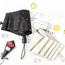 Fully Automatic Umbrella Style Girl Dual Use Simple Folding Student