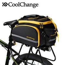 CoolChange Waterproof Bicycle Bag 35L Multifunction Portable Cycling Rear Seat Tail Bag Bike Bag Shoulder Handbag Accessories