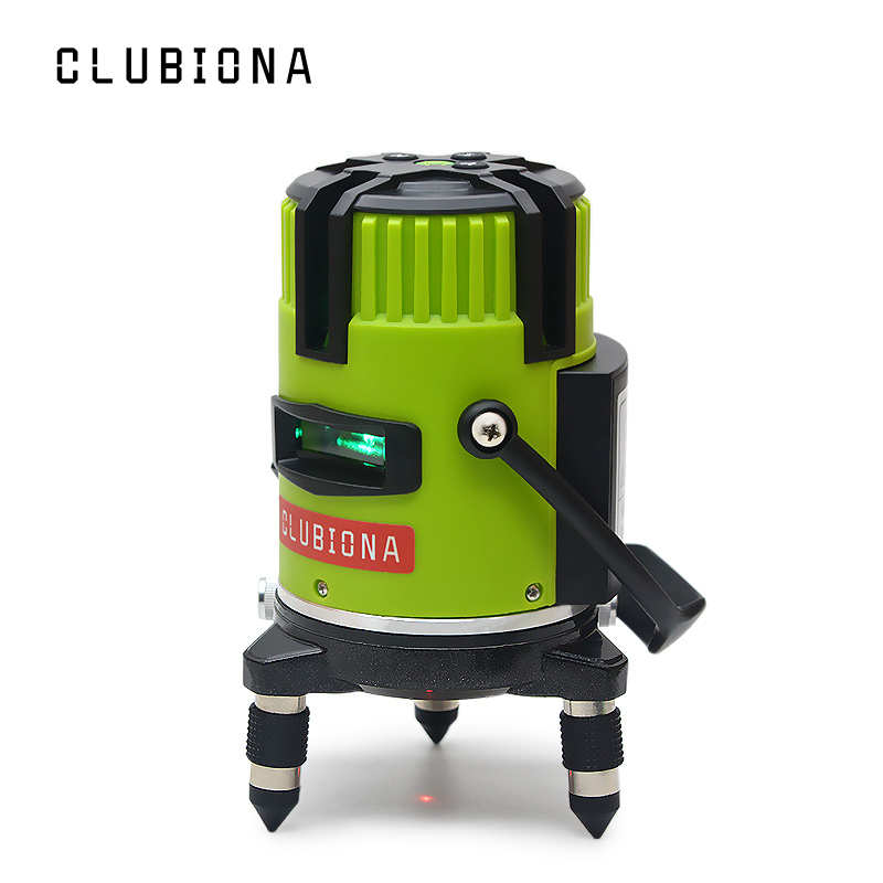Clubiona tilt slash functional German brand 520nm outdoor and receiver available self leveling green beam lines laser level-in Laser Levels from Tools    1