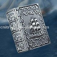 classic captain book design fashion tin-alloy jewelry box