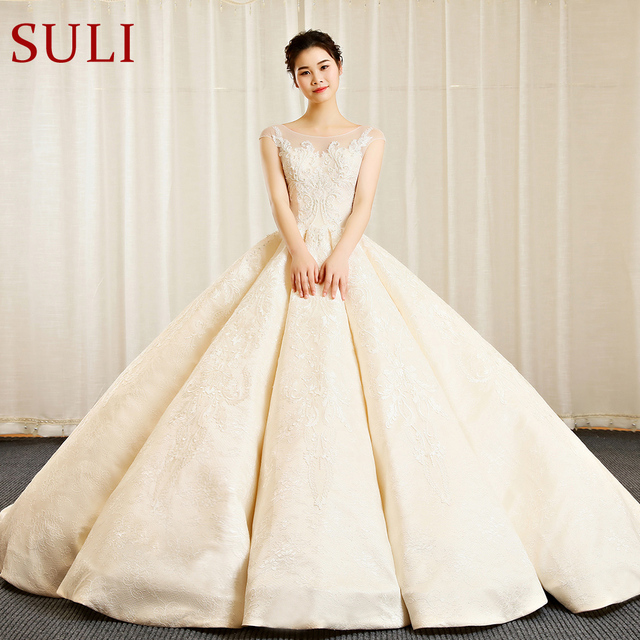 SL 156 Vintage Bohemian Bridal Dresses Ball Gown Wedding Dresses ...