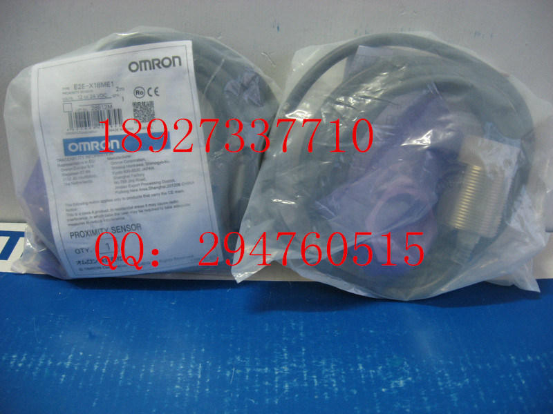 [ZOB] New original OMRON (Shanghai) Omron proximity switch E2E-X18ME1 2M  --2PCS/LOT e2ec c1r5d1 e2ec c3d1 new and original omron proximity sensor proximity switch 12 24vdc 2m