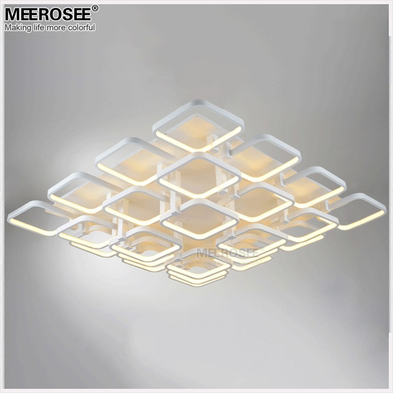 High quality led flush mounted ceiling light fitting modern white high quality led flush mounted ceiling light fitting modern white acrylic square ceiling lamp for shopping mall hotel led lustre in ceiling lights from aloadofball Image collections