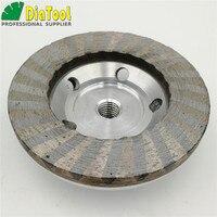 DIATOOL Dia 100mm 4 INCH Aluminum Based Grinding Cup Wheel M14 Thread Diamond Grinding Disc Sanding