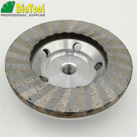 DIATOOL Dia 100mm 4 INCH Aluminum Based Grinding Cup Wheel M14 Thread Diamond Grinding Disc Sanding