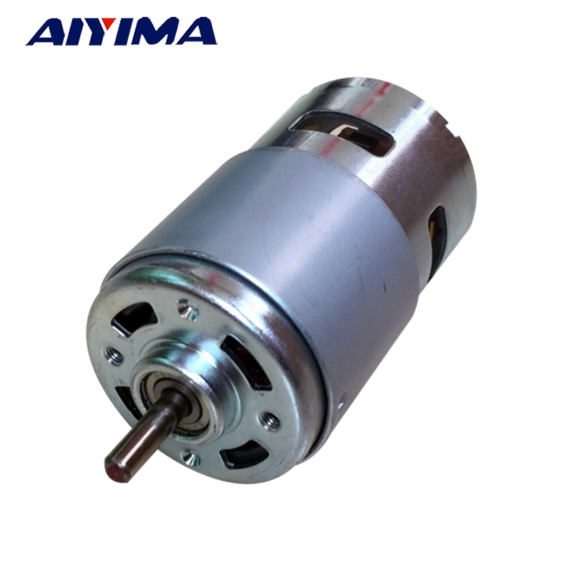 AIYIMA 795 DC Motor Large Torque High Power DC12V-24V Universal Motor Double Ball Bearing Mute High Speed Round AxisAIYIMA 795 DC Motor Large Torque High Power DC12V-24V Universal Motor Double Ball Bearing Mute High Speed Round Axis