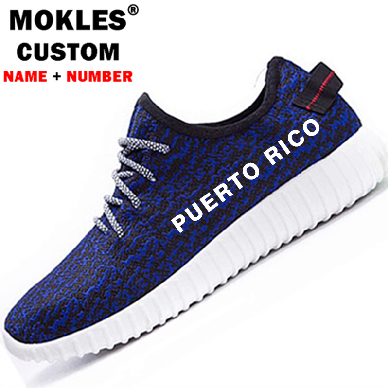 PUERTO RICO men s shoes free custom made name number pri casual shoes nation flag pr rican spanish country college couple shoes