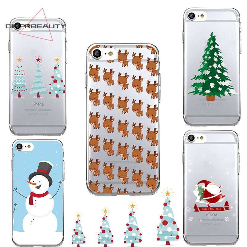 DIFFRBEAUTY Fashion Merry Christmas Snowman Biscuits Sock Lovely Transparent Soft TPU Ph ...