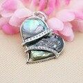 34x39mm Hot sale Natural Abalone seashells sea shells pendants DIY jewelry making design crafts women girls gifts Embroider