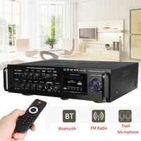 220-240V 2000W sans fil amplificateur Audio numérique 4ohm bluetooth stéréo amplificateur karaoké 2 micro entrée FM RC amplificateur Home cinéma