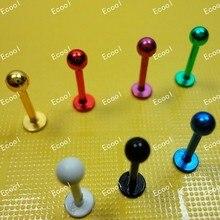 300 cái bán buôn rất nhiều đồ trang sức Labret Lip Cơ Thể Xuyên Núm Vú Navel Belly Lông Mày Bar Nhẫn lip piercing miễn phí vận chuyển RL339