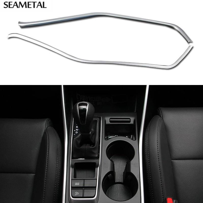 Prix pour Pour Hyundai Tucson 3e 2016 2017 Voiture Vitesse Intérieur Boîte Console Panneau Cover Version Sequin Décoration Auto Accessoires De Voiture-style