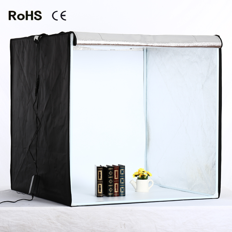 80cm*80cm/31.5inch*31.5Inch Photo Tent Table Photography Soft Box Kit LED light Aluminium reflection fabric inside CD15