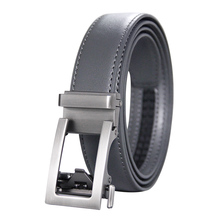 Mens High Quality Genuine Leather Belt-Ratchet Holeless Automatic Buckle Men Belt Popular Business Casual Male Belts Luxury