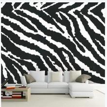 Custom wallpaper mural modern minimalist zebra pattern living room TV background wall decorative painting