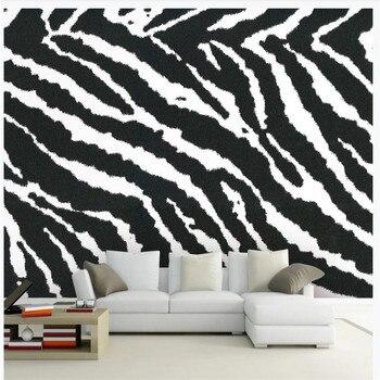 Custom wallpaper mural modern minimalist zebra pattern living room TV background wall decorative painting цена 2017