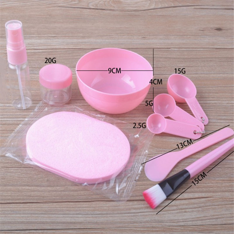 9 in 1 DIY Mixing Bowl Facial Mask Brush Spoon Stick Beauty Make up Set For Facial Mask Tools Makeup Tool Kits Facial Care 5