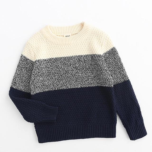 Novo Inverno Da Marca Bby Meninos Projeto Crianças Camisola de Malha Malhas Cardigan Listrado Camisola Camisola Menino Outono