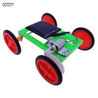 Mini Solar Powered Racing Car Vehicle DIY Kit Children Educational Gadget Kid Toy Science Set