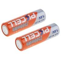 PKCELL 8Pcs/2Pack 2500mAh AA NIZN Rechargeable Batteries NI Zn 1.6V Volt AA Batteries +1Pcs AA/AAA NiZn Battery Charger