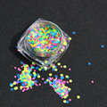 MOONBIFFY Hot Fashion 1 Box 1mm-2mm Mixed Mini Round Thin Nail Art Glitter Paillette free shipping