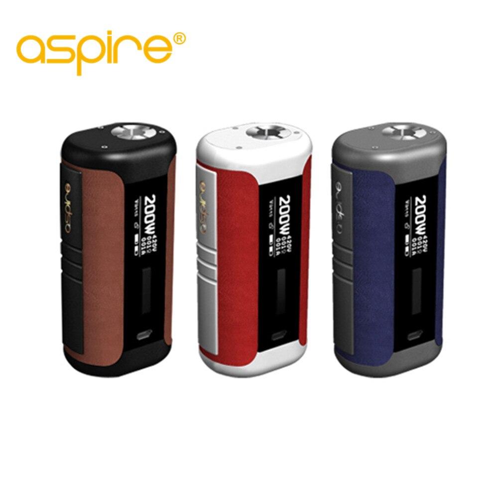 Original aspire speeder mod 200 W e cigarrillo speeder caja mod vape powered by dual 18650 batería adapta revvo tanque