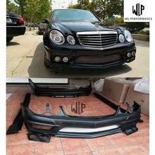 W211 Высокое качество FRP Материал автомобильный комплект кузова передний задний бампер боковые юбки для Mercedes-Benz E200 E240 E260 E280 05-10